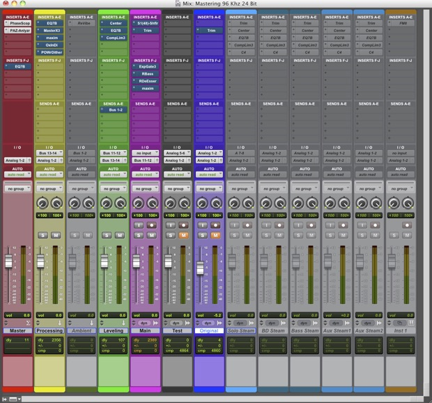Cap 08 A - Schermata mix- Lezioni di Mastering